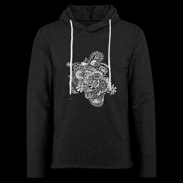 Abstract skull - Sweat-shirt à capuche léger unisexe