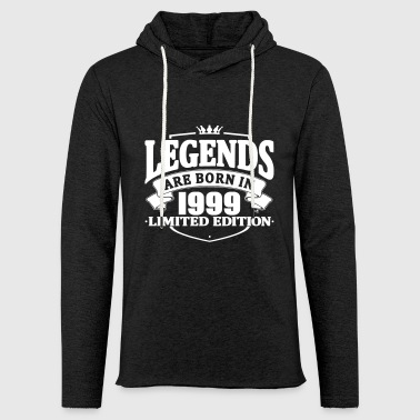 legends are born in 1999 - Light Unisex Sweatshirt Hoodie