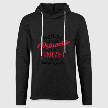 Princesse et Angel - Sweat-shirt à capuche léger unisexe