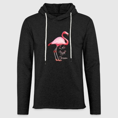 FLAMINGO LATE NIGHT DREAM - Light Unisex Sweatshirt Hoodie