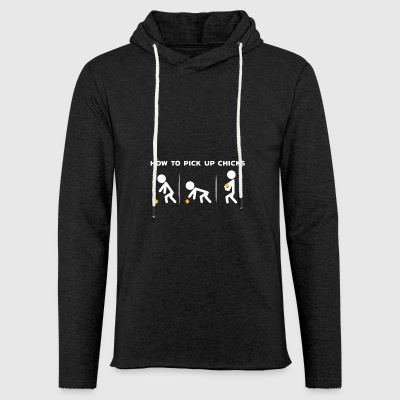 Funny Tshirt Men's Gift Pick up Chicks - Light Unisex Sweatshirt Hoodie