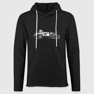 Hot Rod / Rat Rod 01_black white - Light Unisex Sweatshirt Hoodie