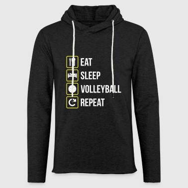 Eat Sleep Volleyball Repeat - Light Unisex Sweatshirt Hoodie
