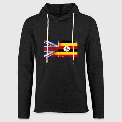British Uganda Half Uganda Half UK Flag - Light Unisex Sweatshirt Hoodie