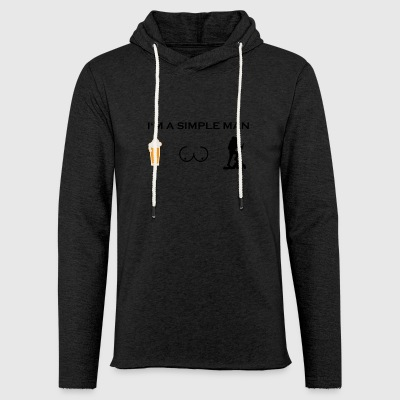 simple man boobs bier beer titten wandern hike hik - Leichtes Kapuzensweatshirt Unisex