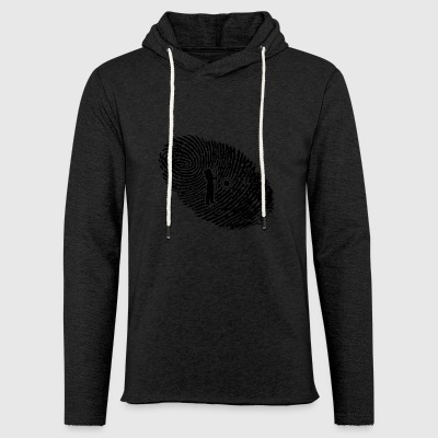 fingerprint dns dna gift archeriy hunter bog - Light Unisex Sweatshirt Hoodie