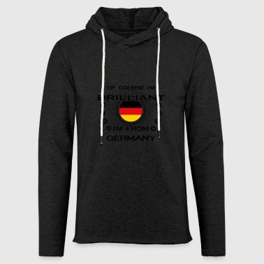 I AM GENIUS BRILLIANT CLEVER GERMANY - Leichtes Kapuzensweatshirt Unisex