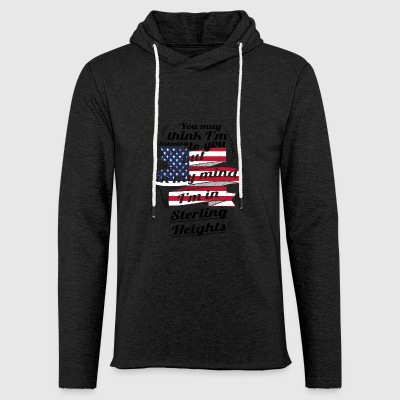 TERAPI FERIE TRAVEL Amerika USA Sterling Heights - Let sweatshirt med hætte, unisex