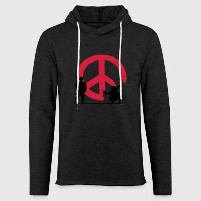 peace not war - Light Unisex Sweatshirt Hoodie