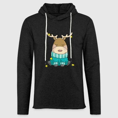 Merry Christmas reindeer comic - Light Unisex Sweatshirt Hoodie