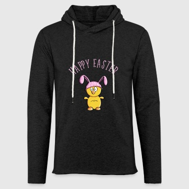 Happy Easter chick as easter bunny - easter - Light Unisex Sweatshirt Hoodie