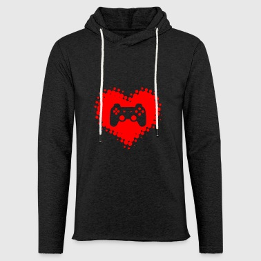 I love video games - GamesGamer Gaming heart - Light Unisex Sweatshirt Hoodie