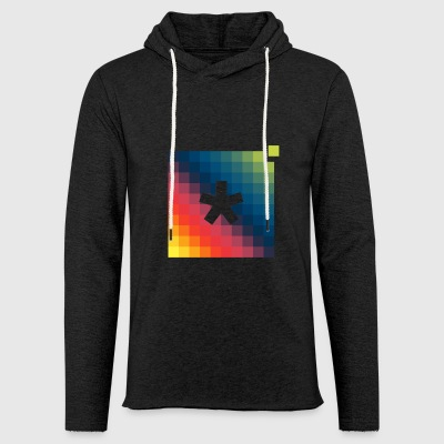 asterisk pixel t-shirt - Light Unisex Sweatshirt Hoodie