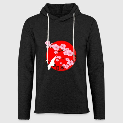 Japan cherry blossoms crane Japanfan Japan travel - Light Unisex Sweatshirt Hoodie