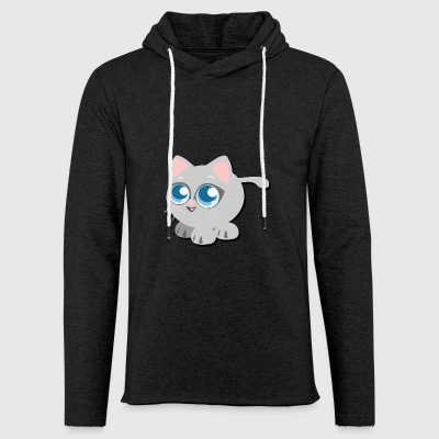 cute little kitten - Light Unisex Sweatshirt Hoodie