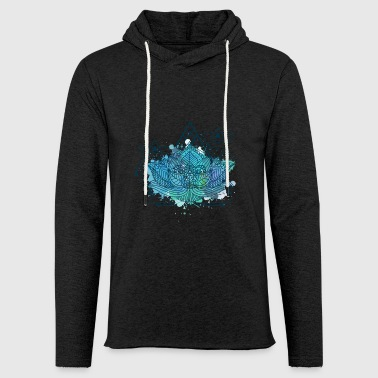Lotus Triangle - Light Unisex Sweatshirt Hoodie