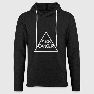 FUCK CANCER TRIANGLE RIBBON KAMP AGAINST CANCER - Light Unisex Sweatshirt Hoodie