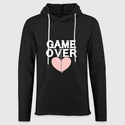 Love game over chain broken heart separation end - Light Unisex Sweatshirt Hoodie