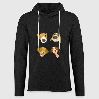 Dogs heads - Light Unisex Sweatshirt Hoodie