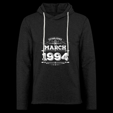 Established in March 1994 - Leichtes Kapuzensweatshirt Unisex