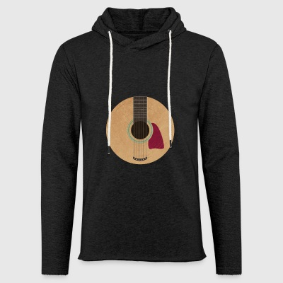 Guitar vinyl. - Light Unisex Sweatshirt Hoodie