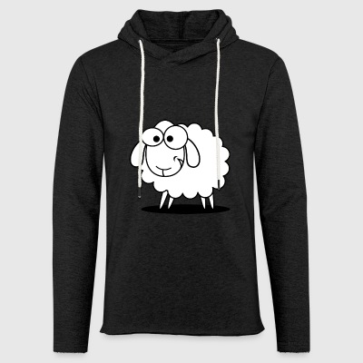 mouton - Sweat-shirt à capuche léger unisexe
