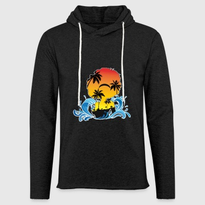 afro woman island - Light Unisex Sweatshirt Hoodie