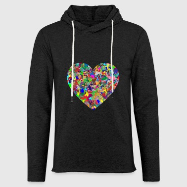 Rainbow Heart - Light Unisex Sweatshirt Hoodie