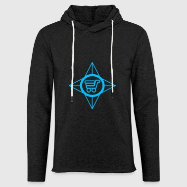 shopping spree blue - Light Unisex Sweatshirt Hoodie
