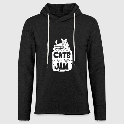 Cats are my jam cat cats gift gift idea - Light Unisex Sweatshirt Hoodie