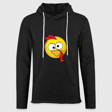 emoji turkey Truthahn thanksgiving Dinner fun humo - Leichtes Kapuzensweatshirt Unisex