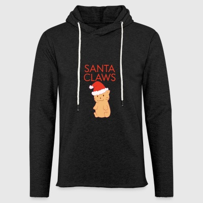 Funny Santa Claws Cute Cat Merry Christmas Ironic - Light Unisex Sweatshirt Hoodie