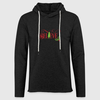 Believe Christmas Tree Mistletoe Funny Xmas - Light Unisex Sweatshirt Hoodie