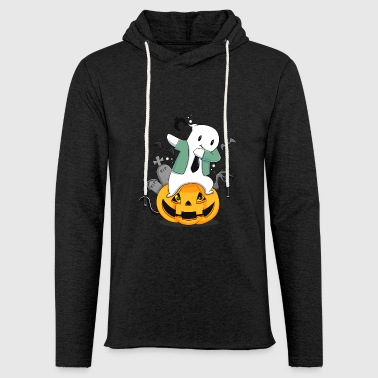 Dabbing dab ghost funny gift Creepy birth - Light Unisex Sweatshirt Hoodie