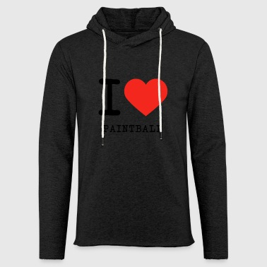I love Paintball - Sweat-shirt à capuche léger unisexe