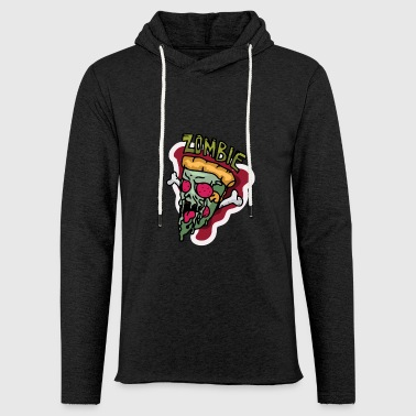 Zombie pizza for Halloween scary gift - Light Unisex Sweatshirt Hoodie