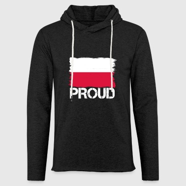 Pride flag flag home origin POLAND polska pol - Light Unisex Sweatshirt Hoodie