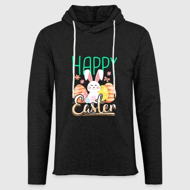 Happy easter gift easter bunny easter eggs cartoon - Light Unisex Sweatshirt Hoodie