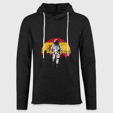 Astronaut Spain flag moon gift - Light Unisex Sweatshirt Hoodie