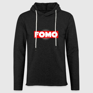 Fomo en rouge rectangle peur de manquer graphique - Sweat-shirt à capuche léger unisexe