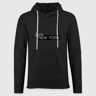 NEW YORK Love von HermzCollection - Leichtes Kapuzensweatshirt Unisex