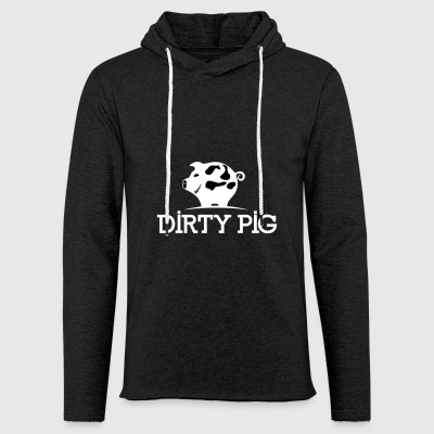 DIRTY_PIG_White - Let sweatshirt med hætte, unisex