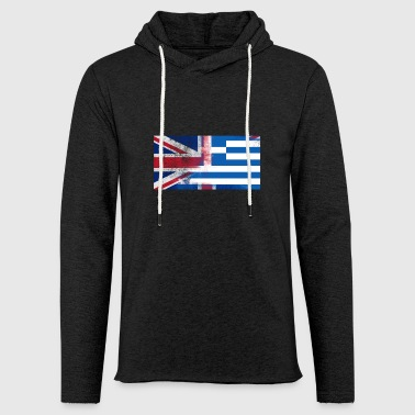 British Greek Half Greece Half UK Flag - Light Unisex Sweatshirt Hoodie