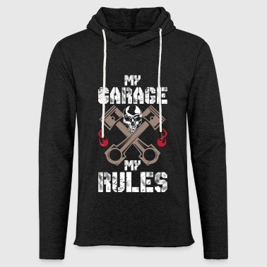 MY GARAGE MY RULES - FUNNY MECHANIC SHIRT - Leichtes Kapuzensweatshirt Unisex