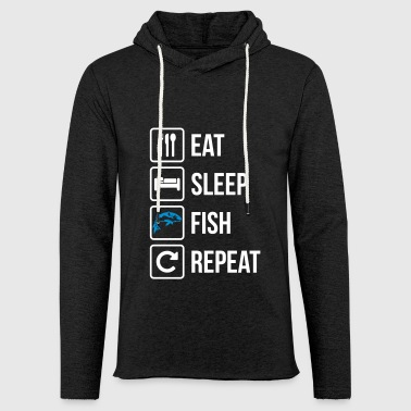 Eat Sleep Pesce Repeat - Felpa con cappuccio leggera unisex