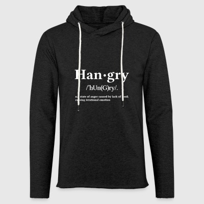 Hangry - Sweat-shirt à capuche léger unisexe