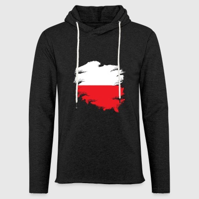 Polish flag - Light Unisex Sweatshirt Hoodie