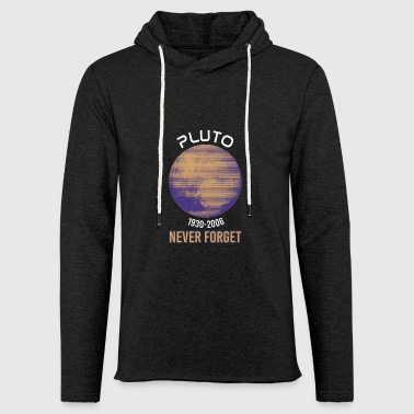 Pluton Never Forget - Lost Planet - Sweat-shirt à capuche léger unisexe