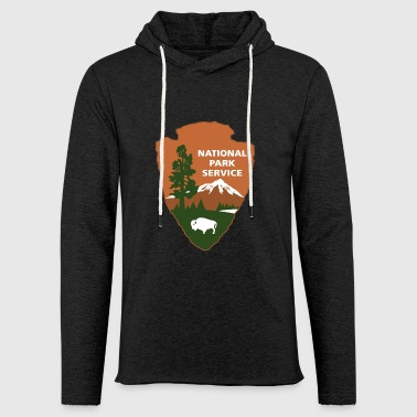 national park service logo - Light Unisex Sweatshirt Hoodie