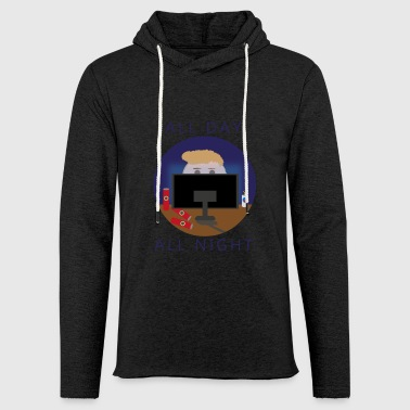 All Day - All Night | Gaming - Leichtes Kapuzensweatshirt Unisex